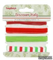 Набор декоративных лент от Scrapberry's - Итальянские каникулы, 4шт. по 1м