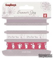 Набор декоративных лент от Scrapberry's - Летняя радость, 4 шт. по 1м