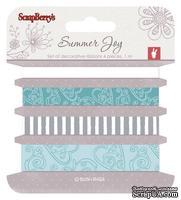 Набор декоративных лент от Scrapberry's -  Летняя радость 2, 4 шт. по 1м