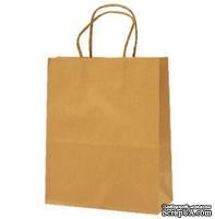 Крафт-пакет от Scrapberry's, гофрованый коричневый, 20x26x11см., 1 шт.