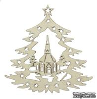 Лазерные вырубки из дерева от Scrapberry's - Рождественская елка, 10x8x0,25см (набор 2 шт.)