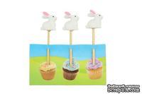 Декоративные канапе от ScrapBerry's -  с Кроликом, 3 шт
