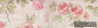 Бумажный скотч с принтом Розовый сад 15мм*8м SCB490009
