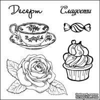 Набор штампов от Scrapberry's -Сладости. Десерт,10,5 x 10,5см