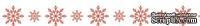 Бумажный скотч с принтом  от Scrapberry's - Снежинки красные, 15мм x 8м