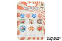Акриловые украшения от Scrapberry's- камушки со стикером - Старый цирк