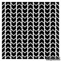 Трафарет Шеврон 15,2*15,2см толщина 0,31мм SCB53100001
