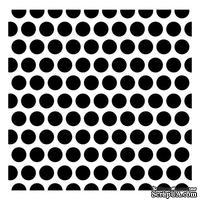 Трафарет Крупные горошины 15,2*15,2см толщина 0,31мм SCB53100018
