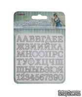 Набор вырубок с чипборда №1 от ScrapBerry's - Курортный Роман, алфавит, 10x10см