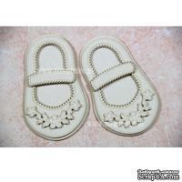 Чипборд Scrapiniec - Обувь босоножки девочки с цветочками и застежкой узкой