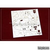 Чипборд Scrapiniec - Детский набор Bobas, 22 элемента