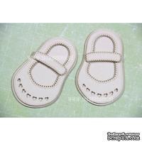 Чипборд Scrapiniec - Обувь босоножки девочки с сердечками и застежкой узкой