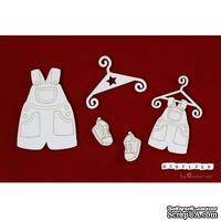 Чипборд Scrapiniec - Набор одежды для песочницы, 5 элементов