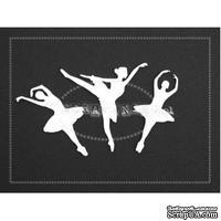 Чипборд Scrapiniec - Балерины, 3 штуки