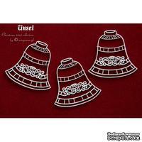 Чипборд Scrapiniec - Колокольчики Tinsel, 3 штуки