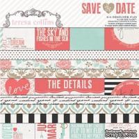 Набор скрапбумаги Teresa Collins - Save the Date - Pad, размер 15х15 см
