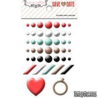 Эмалевые украшения Teresa Collins - Save the Date, 42 штуки