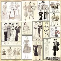 Лист с картинками от 7 Dots Studio - Domestic Goddess - Collage Fashionista - ScrapUA.com
