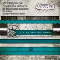 Набор двусторонней скрапбумаги от 7 Dots Studio - Destination Unknown, 15x15 см, 24 шт