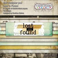 Набор двусторонней скрапбумаги от 7 Dots Studio - Lost and Found, 15x15 см, 24 шт