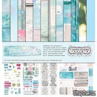 Набор двусторонней скрапбумаги от 7 Dots Studio - Verano Azul - Collection Kit, 12 шт