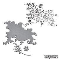 Нож для вырубки  + штампы от Spellbinders - Embroidered Flowers