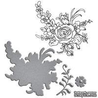 Нож для вырубки + штампы от Spellbinders - Flower Bouquet