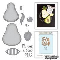 "Нож для вырубки+штампы от Spellbinders - The ""Pearfect"" Avocado"