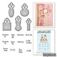 Ножи + штампы от Spellbinders - Paper Grace Vintage Elegance Becca Feeken Graceful Tiny Tag Stamp And Die Set