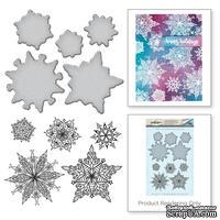 Ножи и штампы от Spellbinders - Snowflakes - ScrapUA.com