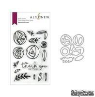 Штампы + Ножи для вырубки от Altenew - Rennie Roses Stamp & Die Bundle, 15 штампов + 14 ножей
