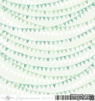 Лист скрапбумаги от ScrapEgo - Флажки - Крошка-сыночек, 30,5х30,5см