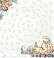 Лист скрапбумаги от ScrapEgo - Ножки, Крошка-сыночек, 30,5х30,5см