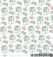 Лист скрапбумаги от ScrapEgo - Комбинезон - Крошка-сыночек, 30,5х30,5см