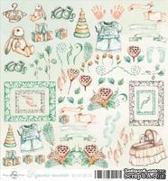 Лист скрапбумаги от ScrapEgo - Милые штучки - Крошка-сыночек, 30,5х30,5см