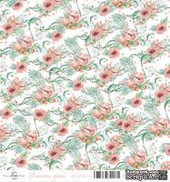 Лист скрапбумаги от ScrapEgo - Цветочек, Лапочка-дочка, 30,5х30,5см