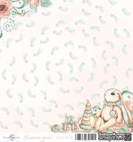 Лист скрапбумаги от ScrapEgo - Ножки, Лапочка-дочка, 30,5х30,5см