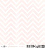 Лист скрапбумаги от ScrapEgo - Шеврон - Лапочка-дочка, 30,5х30,5см