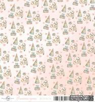 Лист скрапбумаги от ScrapEgo - Зайка, Лапочка-дочка, 30,5х30,5см