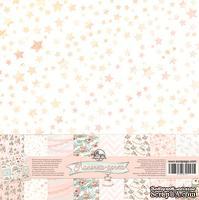Набор скрапбумаги от ScrapEgo - Лапочка-дочка, 20*20см