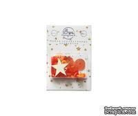"""Набор пуговиц и декора от ScrapEgo - """"Оранжевый микс"""", 30 элементов."""