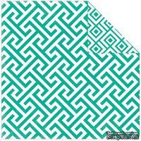 Двусторонний лист бумаги от Echo Park - Style Essentials 34th Street Collection - Calypso Geometric, 30,5x30,5см - ScrapUA.com