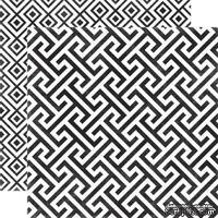 Лист скрапбумаги от Echo Park - Onyx Geometric, 30х30 см