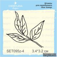 Штампы от Cherrylana - Листок пиона, 3,4х3,2 см