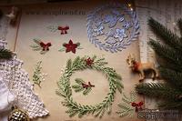 Набор ножей для вырубки от Scrapfriend - Рождественский венок, 9 шт.