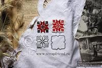 Набор ножей для вырубки от Scrapfriend - Вышиванка - Крестик, 3х3 см