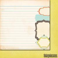 Лист двусторонней скрапбумаги от Fancy Pants - Paper Summer's End Fall Frames