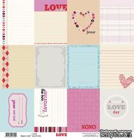 Лист двусторонней скрапбумаги от Fancy Pants - Paper Love Story Cards