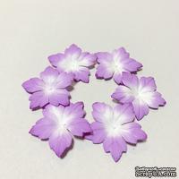 Сиреневые цветочки с острыми лепестками, 20 шт