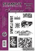 Набор резиновых штампов от Crafter's Companion - Decorative Swirls, 8 шт.